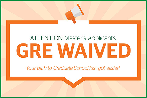 This is a graphic design. The Master of Arts in Liberal Studies program does not require its applicants to submit GRE scores.