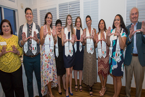 A photo of the 2018-2019 Master of Arts in Liberal Studies graduates at the University of Miami.